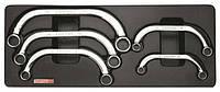 Набор ключей накидных С-обр. 10-22 мм 5 ед. (в ложементе) TOPTUL GAAT0504