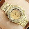 Яркие наручные часы Rolex Brilliant Gold/Gold 2073