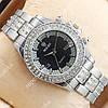 Популярные наручные часы Rolex Brilliant Silver/Black 2081