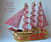 """Корабль из конфет """"Алые паруса"""""""