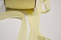 Косая бейка из хлопка бежевого цвета 18 мм.
