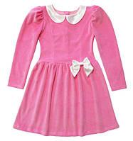Нарядное платье из велюра для девочек