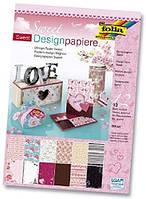 """Набор дизайнерской бумаги Design Paper Sweet """"Нежность"""", 11249, Folia"""