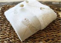 Полотенце махровое Barine - Dragonfly ecru молочное 50*90 см.