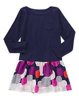 Платье для девочки Gymboree темно-синее 5,6,7,12 лет
