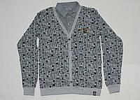 Пуловер с рубашкой Обманка 11-15 лет