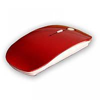 Беспроводная ультратонкая оптическая радио мышка Красная