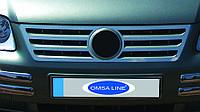 Накладка на решетку Volkswagen CADDY (03-10) (Фольксваген кадди), нерж. OmsaLine