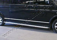 Накладки на молдинг двери Volkswagen T5/ Т6, К.Б. нерж.