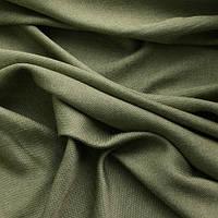 Портьерная ткань рогожка (под лён), цвет т. оливковый