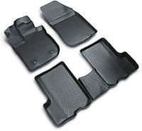 Комплект резиновых ковриков в автомобиль (полиуритановые) Ssang Yong Rexton II (07-) 3-й ряд сидений 3D, Lada Locker