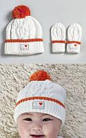 Детская шапка и варежки для новорожденных, Natures Purest