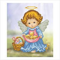 """Схема для вышивки бисером """"Ангелочек с утятами"""""""