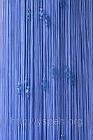Веревочные шторы с тройным стеклярусом серый ст13