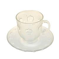 """Набор чайных кружек с блюдцами Helios """"Яблоко"""" 200 г, 12 шт (928)"""