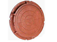 """Люк """"Садовый"""" полимерный коричневый 1 т. р. 590/720"""