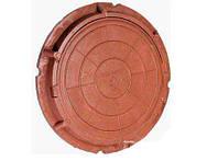 """Люк """"Garden"""" полимерпесчаный коричневый 1т. д. 680 мм"""