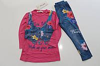 Детский костюм - двойка под джинс Цветочно. Размер 3 - 8 лет. Разные цвета