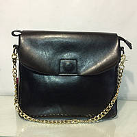 Кожаная сумка черного цвет