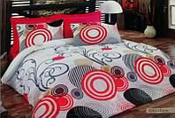 Постельное белье Best Class ранфорс ― Cirсolare красный евро размера