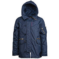 Оригинальная куртка N-3B Ambrose мужская Parka Alpha industries (Альфа Индастриз) Амброз США XS, Replica Blue
