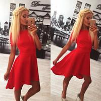 Женское Красивое платье с удлиненной юбкой-солнце