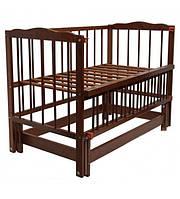 """Детская кроватка для новорожденных """"Малятко"""" с маятниковым механизмом  ТМ Колисковий світ"""