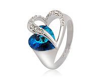 Кольцо «Симфония сердца» с кристаллом Сваровски в форме сердца, купить