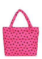 Женская дутая сумка POOLPARTY с принтом