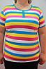 Модная летняя женская футболка Батал