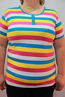 Модная летняя женская футболка Батал, фото 1