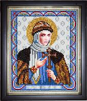 Икона святой княгини Ольги (вышитая бисером)