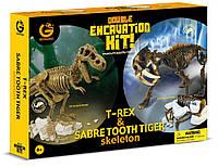Набор юного палеонтолога Ти-Рекс и Саблезубый тигр Geoworld