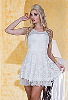 Д3163 Платье коктейльное Белый
