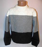 Теплый свитер под горло для мальчика 2038