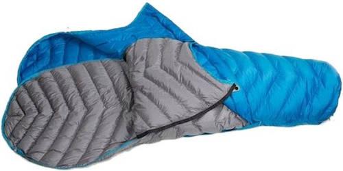 Качественный спальный мешок Sir Joseph Double Attack II/190/-12°C Blue/Grey (Left/Right) 922277 голубой
