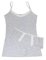 """Комплект женский майка и шорты с кружевом """"Ego"""" WSS 95% хлопок серый"""