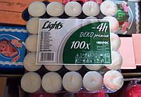 Свеча чайная таблетка 100 шт. упаковка