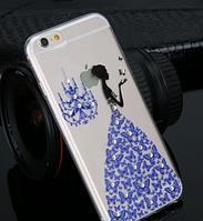 Силиконовый чехол Платье синее для Iphone 6