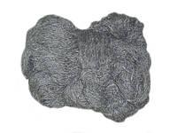 Пряжа для вязания из овечьей шерсти темно-серая