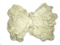 Пряжа для вязания из овечьей шерсти белая