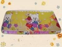 Матраc для детских кроватей №600 кокос- поролон-кокос 3 слоя (Мишки на оливковом фоне)