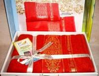 Подарочный набор  махровых полотенец из бамбука Cestepe