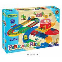 Детская парковка Kid Cars вокзал с дорогой 5м Wader 51792