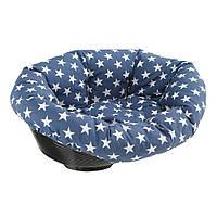 Пластиковый лежак для собак и кошек в комплекте с подушкой, SOFA' 4.
