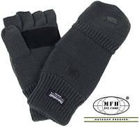 Трикотажные перчатки-варежки Thinsulate MFH тёмно-зелёный 15457B