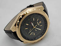 Мужские часы BREITLING for Bentley - кварцевые, корпус золотистый, циферблат черный