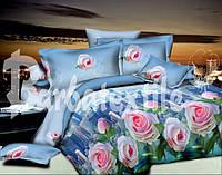 """Комплект постельного белья двуспальный евро """"Городские цветы""""."""