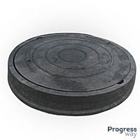 Люк полимерпесчаный черный размер 540мм х 750мм Гарден максимальный вес 4,5 тонн