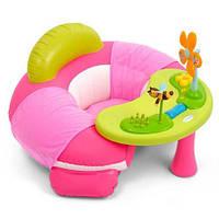 Развивающий центр Smoby Cotoons Hадувной стульчик с музыкальным столиком Розовый 211308R